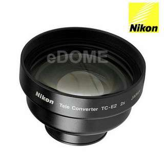 全新盒裝NIKON 原廠 2x 專用望遠鏡頭TC-E2