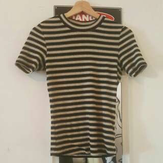 Fitted Striped Top Xs