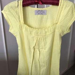 Yellow top •Zara•
