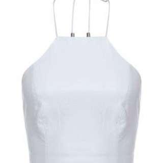 Bardot Black Size 10 PU Halter Top