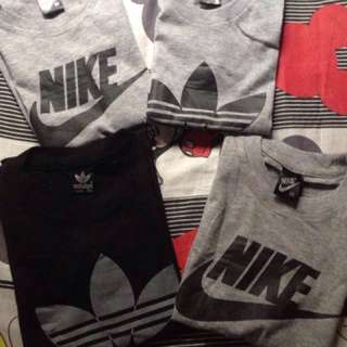 REPRICED NOW: 150 each (Adidas and Nike shirt for your LO