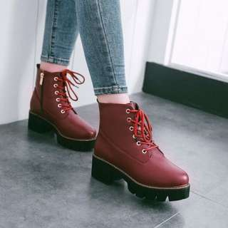Size 32-43 Martin Chunky Heels Boots