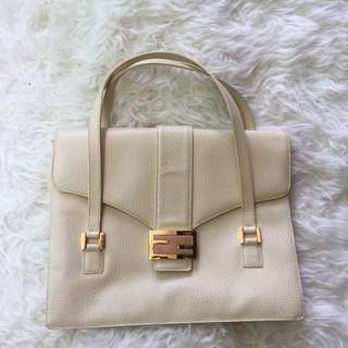 Vintage Fendi Ivory Leather Purse