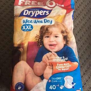 Drypers Wee Wee Dry XXL Nappies