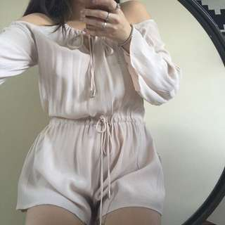 Bell Sleeve Off The Shoulder Playsuit