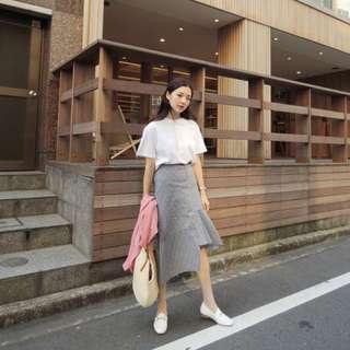 Asymmetrical Ruffled Gingham Skirt