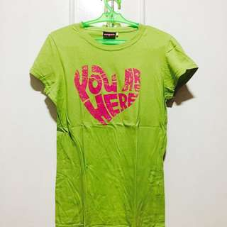 Neon Green Shirt from Human