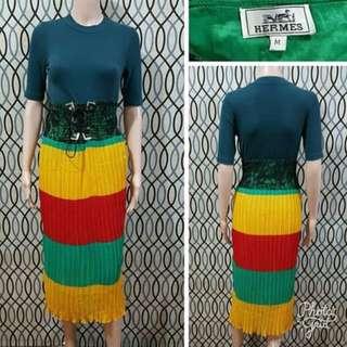Hermes Pleated Skirt