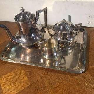 歐洲純銀咖啡壺組