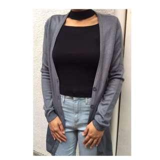 H&M long gray cardigan