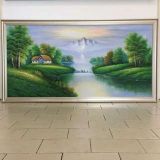 Peaceful Oil Painting with Frame