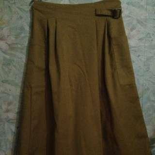 REPRICE Mustard Pants Skirt Combo