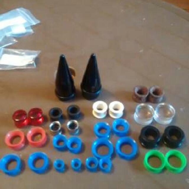 16 piece ear gauge set