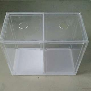 Fighting Fish Tank With Divider (Last 8 Sets)