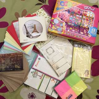 Girly Stickers, Sticky Notes Set & Papemelroti Pad Php 70.00 + Shipping Fee
