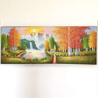 Feng Shui Oil Painting with Frame