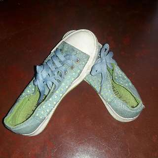 Blue And Green Sneakers
