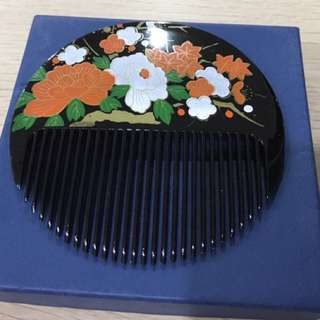 Beautiful Hand Painted Japanese Hair Comb