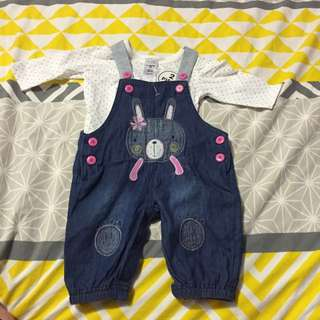 Baby Size 000 Overall Set