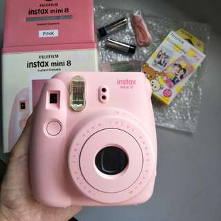 10 free films - Instax Mini 8 Pink