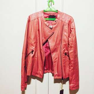 Pink Leather Jacket from Canada