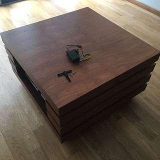 Solid Teak Real Wood Coffee Table