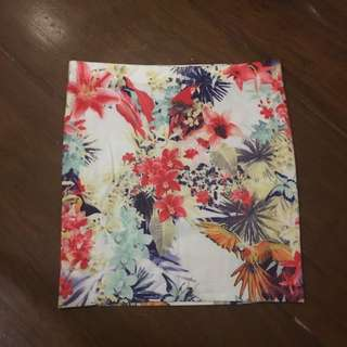 Zara Floral Bandage Skirt