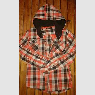 CHECKERED HOODIE (Polo Type)