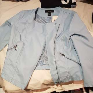 Forever21 Casual Light Blue Jacket