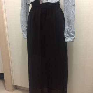 F21 Chiffon Maxi Skirt - Pre-loved