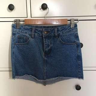 PRINCESS POLLY Denim Skirt