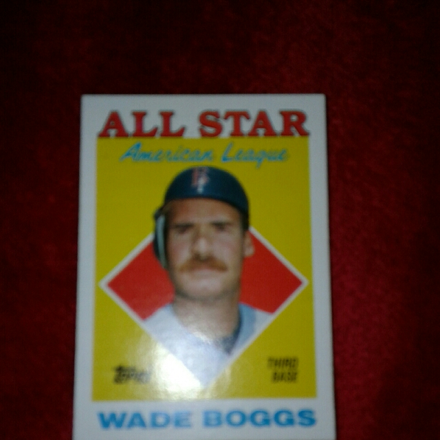 1988 Topps Wade Boggs Error Card All Star