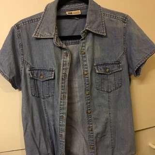 Denim/cotton shirt