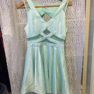 NEW SILK TEAL CUTOUT FORMAL/ PARTY DRESS 👗 💥