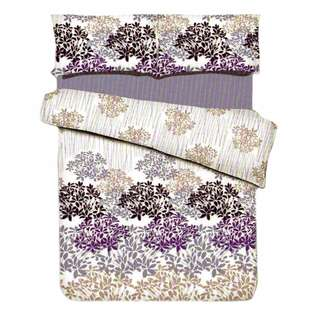 Zover Printed Cotton Beddings Set Queen-Size Loveliness Bedsheet (1pc Fitted Sheet+2pc Pillowcase+1pc Flat Sheet) 4-piece Set (BEDSHEET4PC-L_Queen)