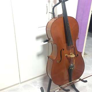 Cello For Beginners 4/4 Size