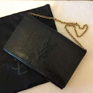 YSL shoulder/ clutch with chain