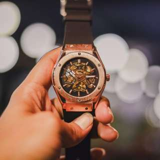 BNIB Razed Watch Gold Automatic Watch Original 100%