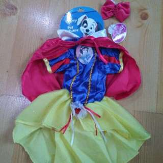 DISNEY Snow White Pet Dog Cat Costume