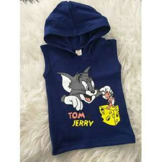 Hoodies Singlet ~ Tom & Jerry (Navy)