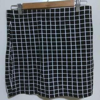 Black & White Grid Skirt