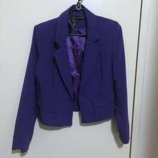 Purple/Blue Cropped Blazer