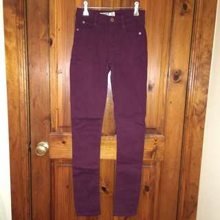 Cotton On Burgundy Skinny Jeans