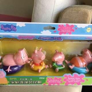 粉紅豬洗澡公仔組
