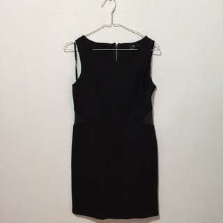 Forever 21 Black Dress With Side Mesh