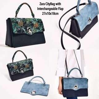 Zara City Bag Interchangeable Flap Original
