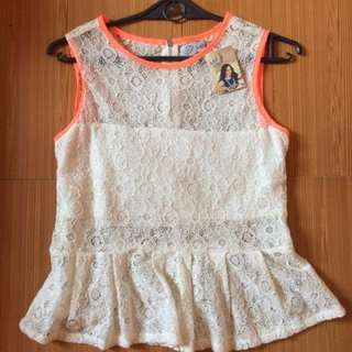 Repriced!!!JUST G Lace Sleeveless Blouse