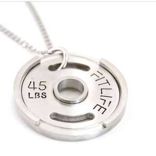 (LOOKING FOR) Weight plate necklace