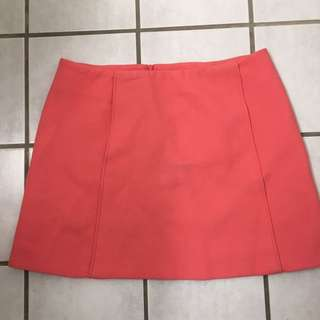 Zara women's pink skirt
