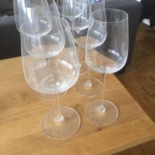 Spiegelau red and white wine glasses
